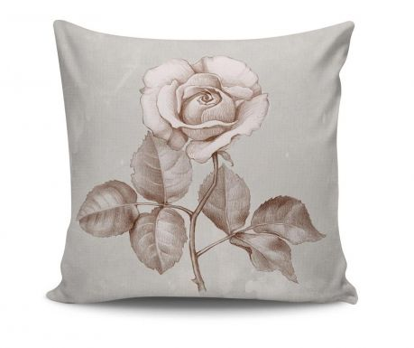Poduszka dekoracyjna Rose Sketch 45x45 cm