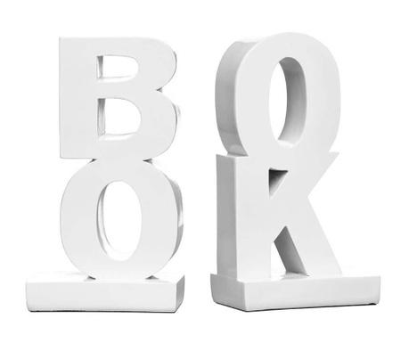 Set 2 suporturi pentru carti Book White
