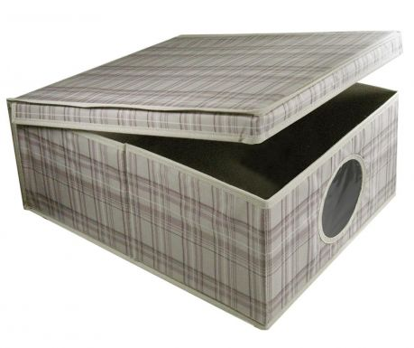 Storage box with cover Tartan L