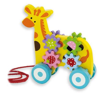 Jucarie de tras Flowery Giraffe