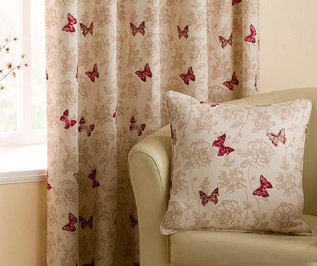 Poszewka na poduszkę Vintage Butterflies Red 43x43 cm