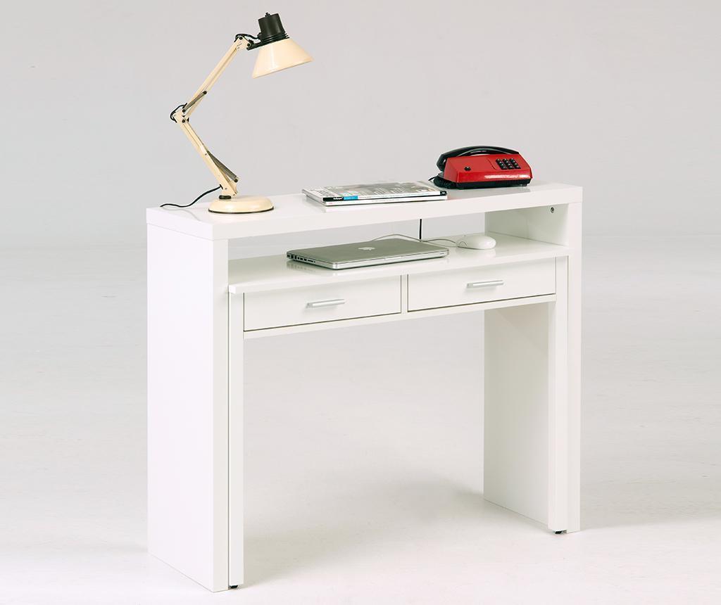 Consola cu birou glisant Number Nine White