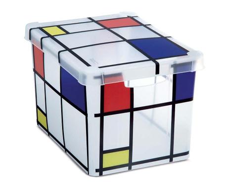 Cutie cu capac pentru depozitare Milano Squares L