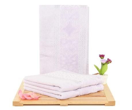 Meltem Lilac 3 db  Fürdőszobai törölköző 50x90 cm