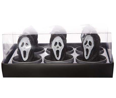 Set 6 lumanari Scream Skull