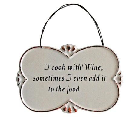 I Cook with Wine Fali dekoráció