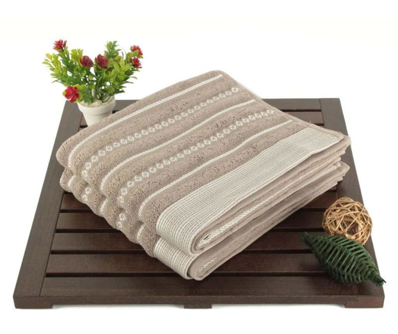 Set 2 prosoape de baie Smooth Grey Cream 50x90 cm