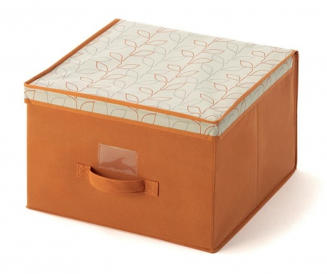 Κουτί με καπάκι για αποθήκευση Bloom Orange M