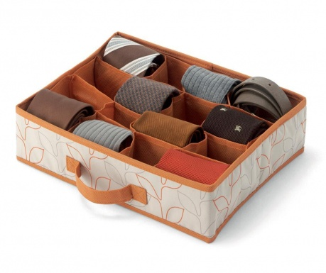 Set 2 organizatorjev za predal Bloom Orange Cream