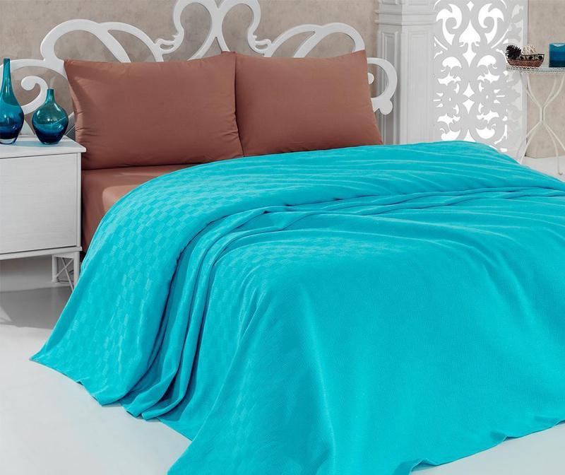 Cuvertura Pique Jessica Turquoise 160x240 cm