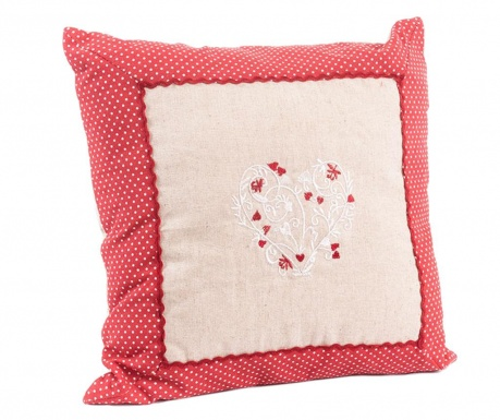 Okrasna blazina Romantic Heart Red 40x40 cm