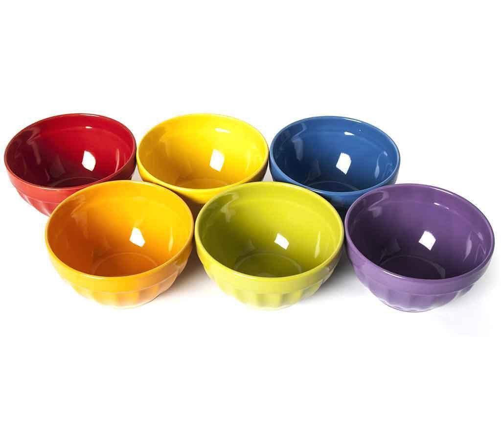 Zestaw 6 misek Rainbow 550 ml