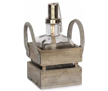 Set lampa cu ulei si suport Rustic