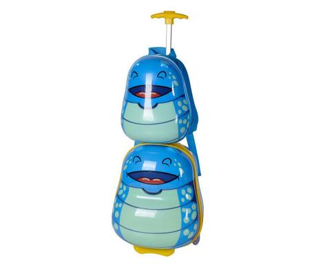 Sada detský kolieskový kufor a školská taška Ocean Bug