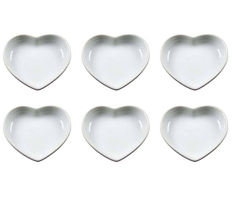 Set 6 krožnikov za predjed Mini Hearts