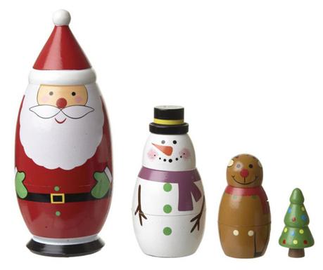 Set 4 decoratiuni Jolly Matrioska
