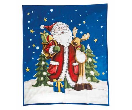 Pléd Santa and Rudolf 130x160 cm