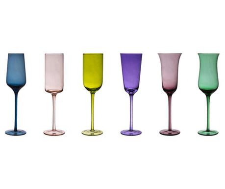 Комплект 6 чаши за шампанско Irena 200 мл
