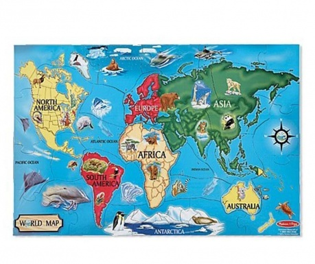 33-dijelna podna slagalica World Map