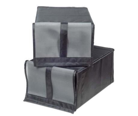 Set 2 cutii pentru depozitare incaltaminte Grey