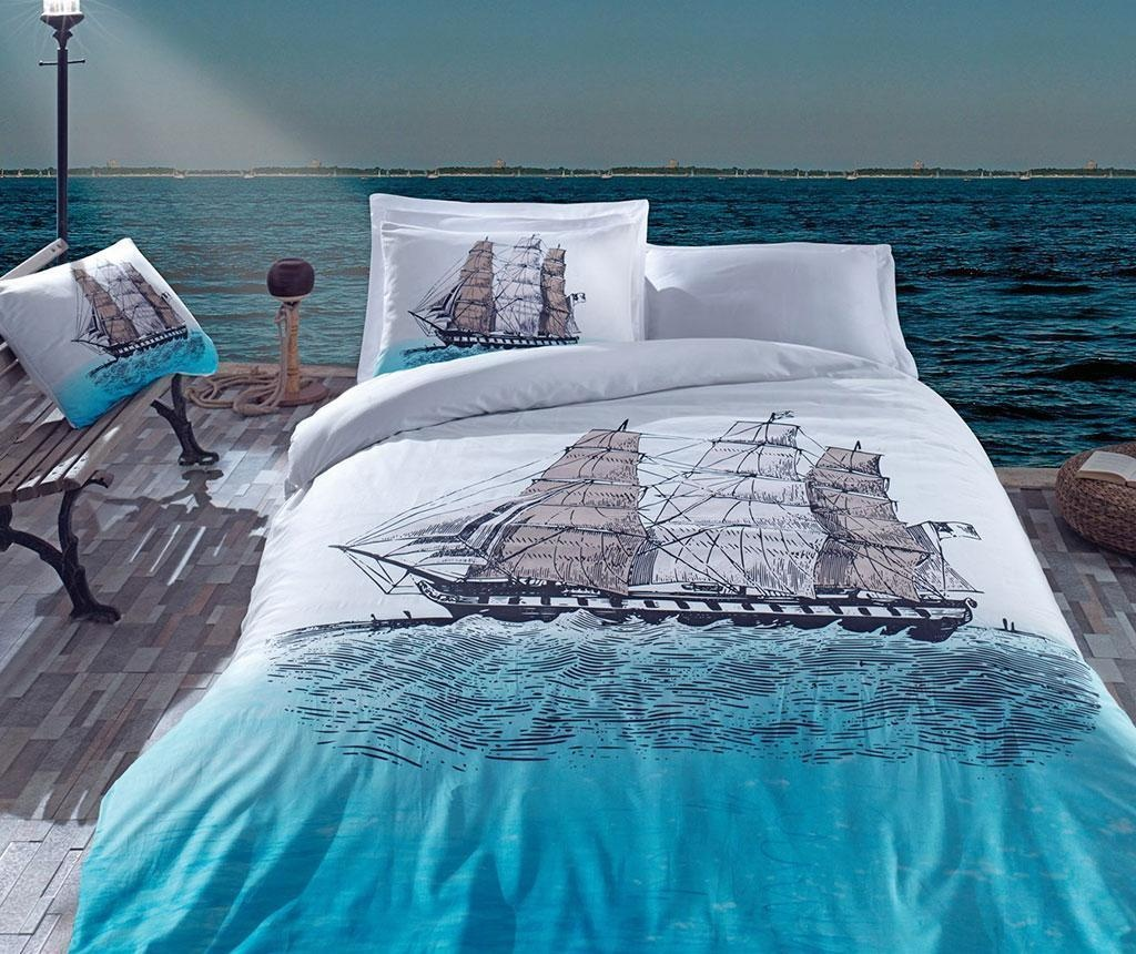 Komplet pościeli King Ranforce Ship Blue