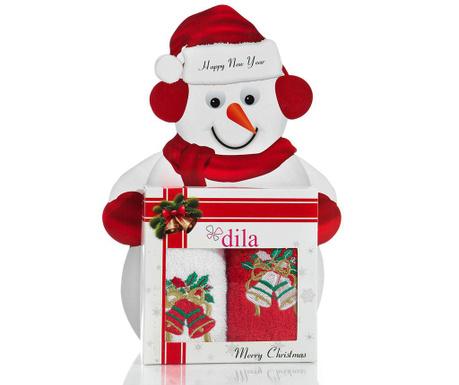 Christmas Bell Gift 2 db Fürdőszobai törölköző 30x50 cm