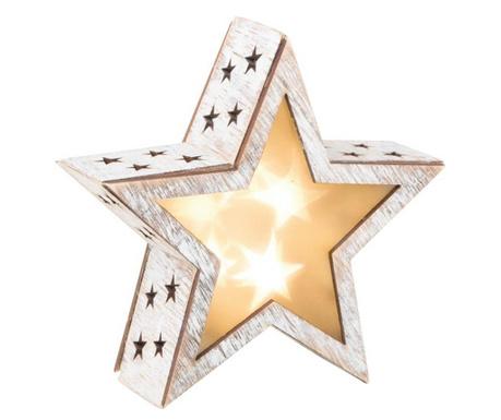 Svetlobna dekoracija 3D Shabby Chic Star