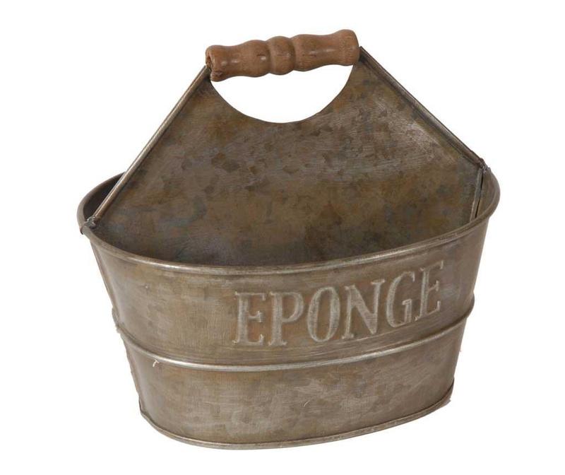 Поставка за препарат за миене на съдове и гъба Antique Silver