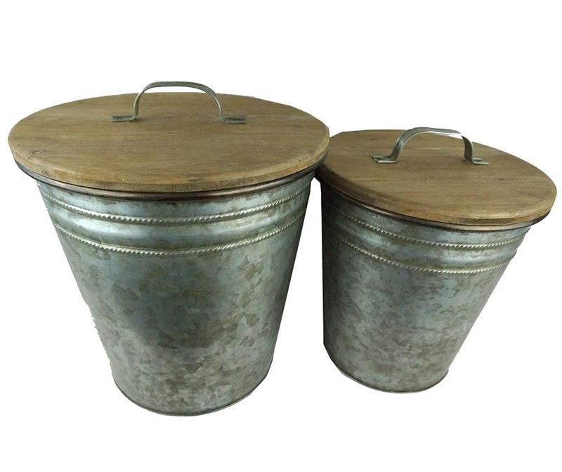 Sada 2 odpadkových košov s vekom Binnies