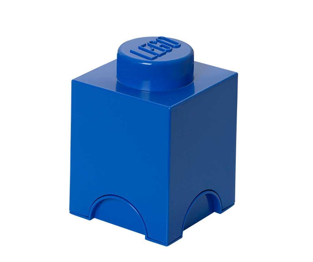Škatla s pokrovom Lego Square Blue