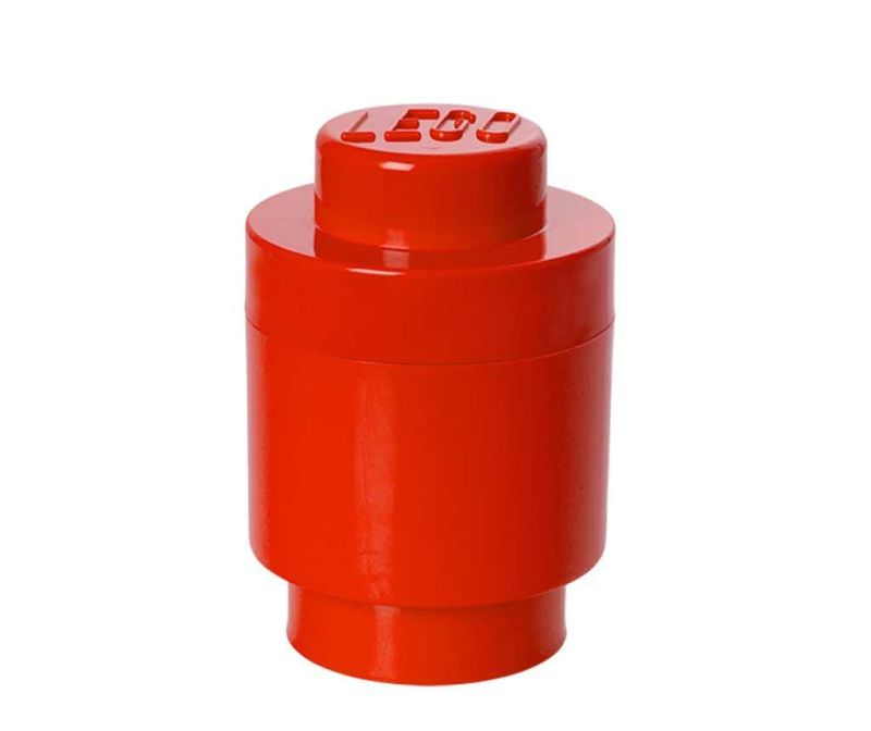 Škatla s pokrovom Lego Round Red