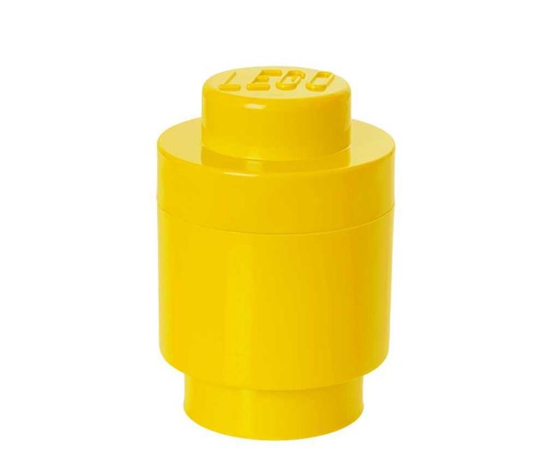 Škatla s pokrovom Lego Round Yellow