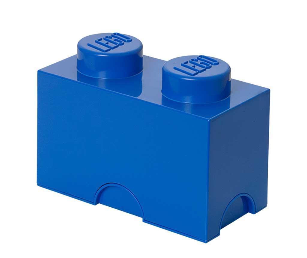 Škatla s pokrovom Lego Rectangular Blue