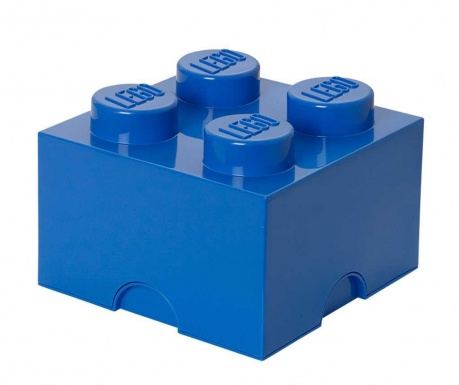 Kutija za pohranu s poklopcem Lego Square Four Blue
