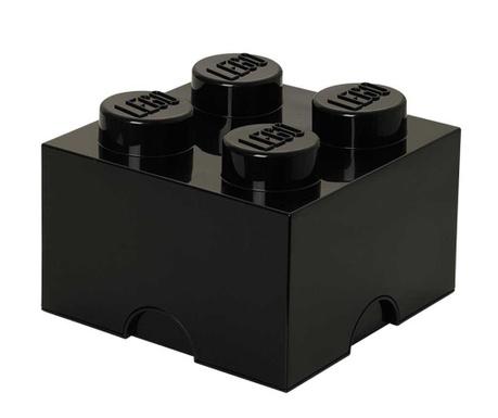 Kutija za pohranu s poklopcem Lego Square Four Black