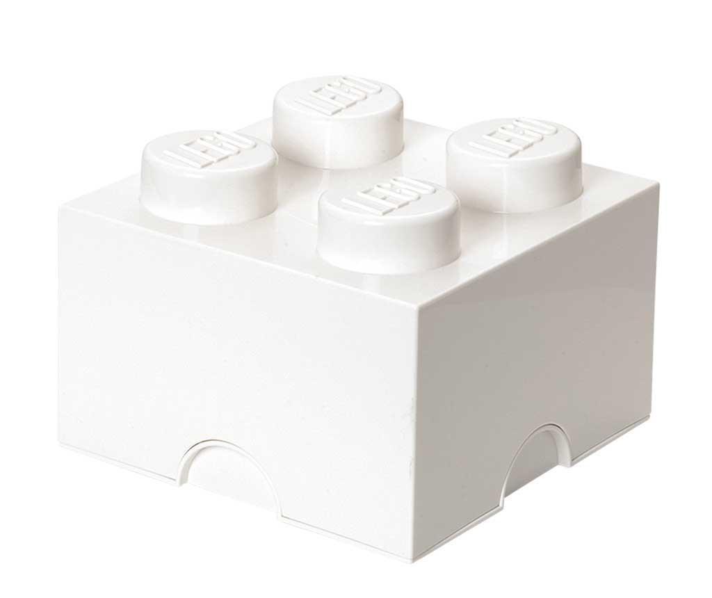 Lego Square Four White Doboz fedővel
