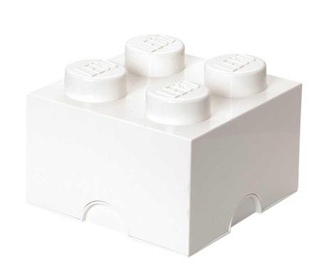 Škatla s pokrovom Lego Square Four White