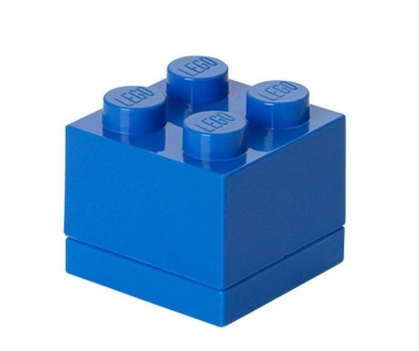 Kutija s poklopcem Lego Mini Square Blue