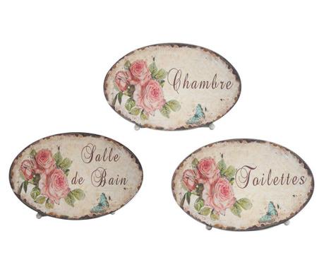 Комплект 3 декорации за врата Roses