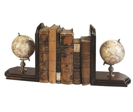 Globe 2 db Könyvtámasz