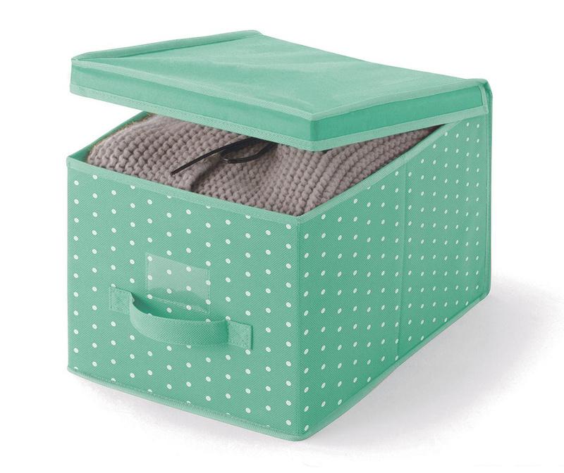 Úložná krabica s vekom Vintage Green