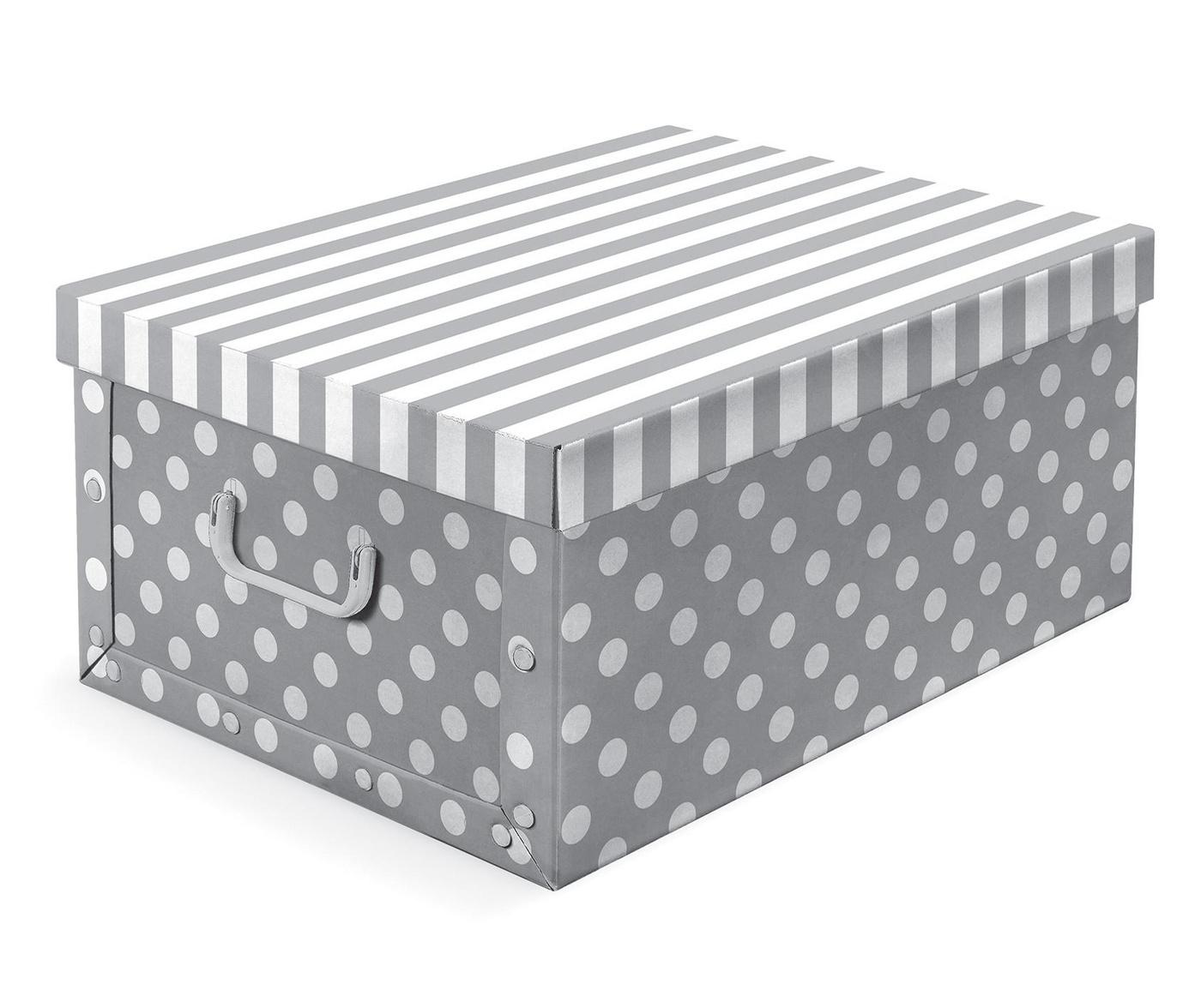 Кутия за съхранение с капак Trend Grey