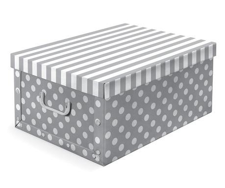 Skladovacia krabica s vrchnákom Trend Grey
