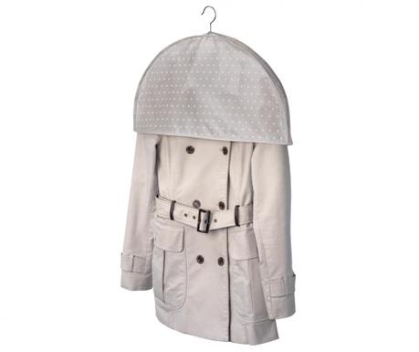 Zaščitna vreča za ramenski del oblek Beige Dots