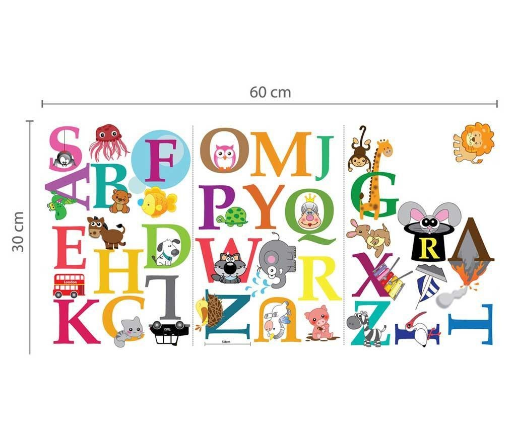 Sticker Colourful Alphabet