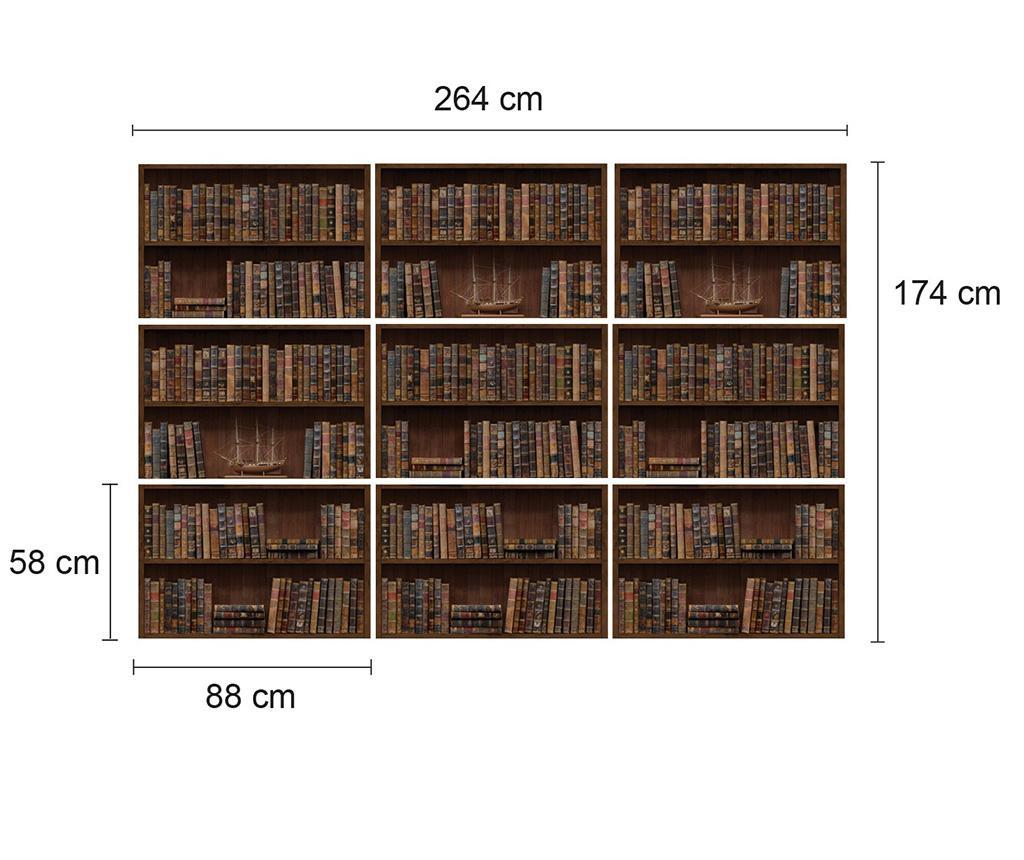 Naljepnica Vintage Library