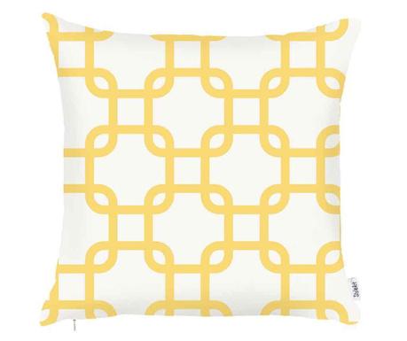 Poszewka na poduszkę Nora White Yellow 43x43 cm