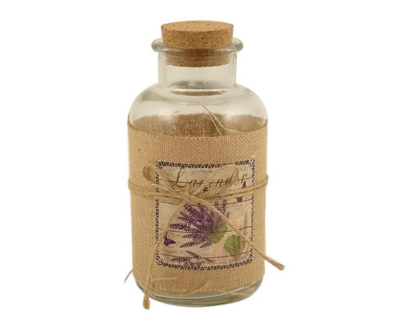 Dekorativna steklenica z zamaškom Lavender Bouquet