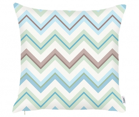 Prevleka za blazino Chevron Trio Green Light Blue 43x43 cm