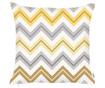 Prevleka za blazino Chevron Trio Yellow Grey 43x43 cm